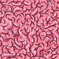 naadloze patroon met het menselijke neurale systeem vector