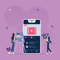 online marketing inhoud-sociale media en sociaal netwerkconcept