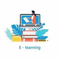 online klassen, virtueel klaslokaalconcept