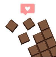 chocoladereep geïsoleerde pictogram vector