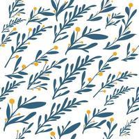 natuurlijke bladeren en kruiden naadloze patroon achtergrond