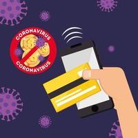 campagne van stop 2019 ncov en koop online vector