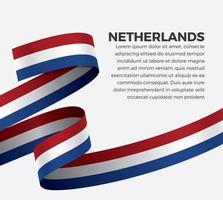 Nederland abstract golfvlag lint vector