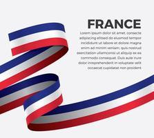 Frankrijk abstract golfvlag lint vector