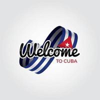 welkom in cuba vector