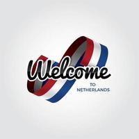 welkom in nederland vector
