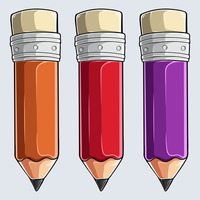 kleurpotloden - set van drie kleurpotloden