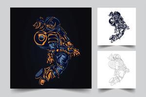 astronaut ruimte kunstwerk illustratie vector