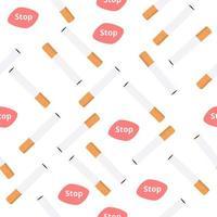sigaretten, stoppen met roken naadloze patroon vector