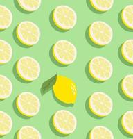 citroen fruit naadloze patroon vector