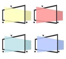 abstracte moderne banner kleurrijke set vector