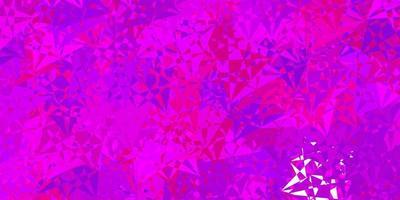 lichtroze, blauw vectorpatroon met veelhoekige vormen. vector