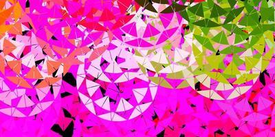 lichtroze, groen vectorpatroon met veelhoekige vormen. vector