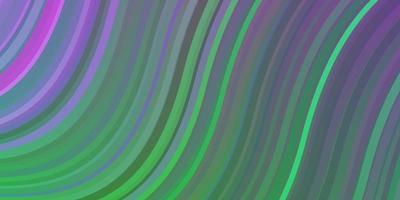 lichtroze, groene vectorlay-out met wrange lijnen. vector
