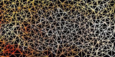 licht oranje vector driehoek mozaïek ontwerp.