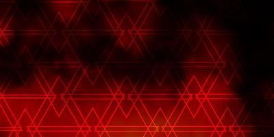 donkeroranje vector achtergrond met driehoeken.