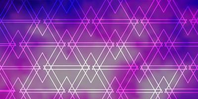 lichtpaars, roze vectortextuur met lijnen, driehoeken. vector