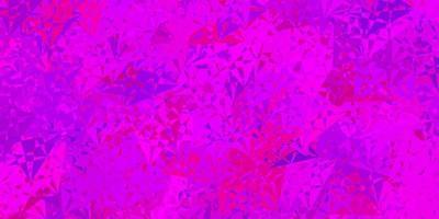lichtroze, blauwe vectorlay-out met driehoeksvormen. vector