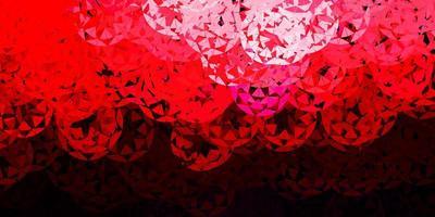 lichtroze, rood vector sjabloon met driehoekige vormen.