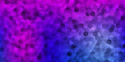 lichtblauwe, rode vectorlay-out met vormen van zeshoeken.