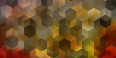 lichtroze, geel vector sjabloon in zeshoekige stijl.