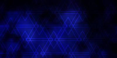 donkerpaars vectorpatroon met lijnen, driehoeken. vector