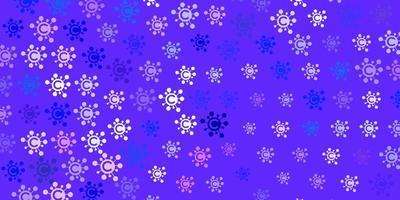 lichtroze, blauw vectormalplaatje met grieptekens. vector