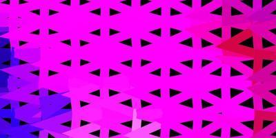 donker paars, roze vector driehoek mozaïek patroon.