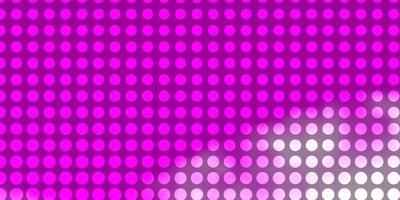 lichtpaars, roze vectorpatroon met cirkels. vector