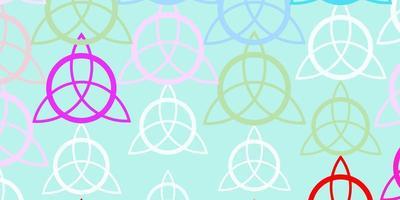licht veelkleurige vectorachtergrond met mysteriesymbolen. vector