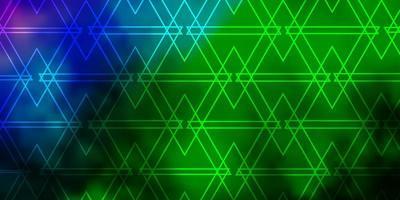 lichtroze, groene vectorachtergrond met veelhoekige stijl. vector