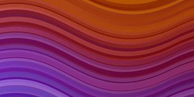 lichtroze, geel vector sjabloon met lijnen.
