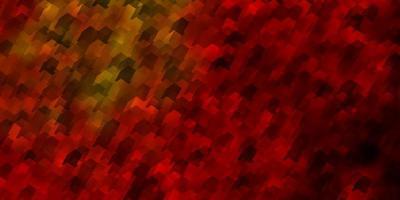 lichtgroene, gele vectorachtergrond met zeshoeken. vector