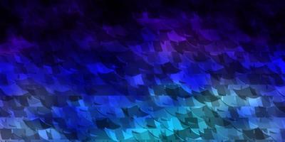donkerroze, blauwe vectortextuur met driehoekige stijl. vector