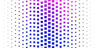 lichtroze, blauw vectorpatroon in vierkante stijl. vector
