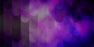 donkerpaars, roze vectorachtergrond met lijnen.