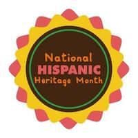 nationale Spaanse erfgoed belettering in kant platte stijlicoon