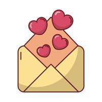 gelukkige Valentijnsdag envelop met hart