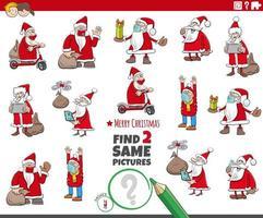 vind twee dezelfde educatieve game voor kerstman-personages