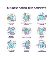 bedrijfsadvies concept pictogrammen instellen