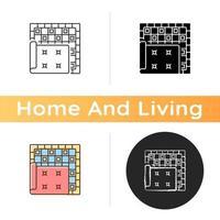 tapijten en vloerkleden pictogram vector
