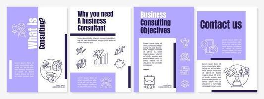 zakelijke consultancy taken brochure sjabloon vector
