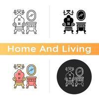 vintage meubels pictogram vector