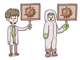 mensen die persoonlijke beschermingsmiddelen dragen covid-19