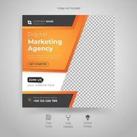 digitaal marketingbureau, vierkante flyer-sjabloon