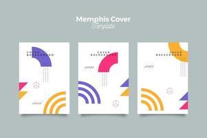 Memphis futuristische omslagontwerpsjabloon vector