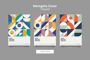 retro cover futuristisch ontwerp vector
