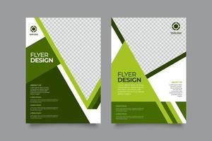 abstracte bedrijfsvlieger met groenachtige stijl