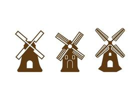 windmolen pictogram ontwerpsjabloon vector geïsoleerde illustratie