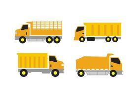 vrachtwagen pictogram ontwerpset vector